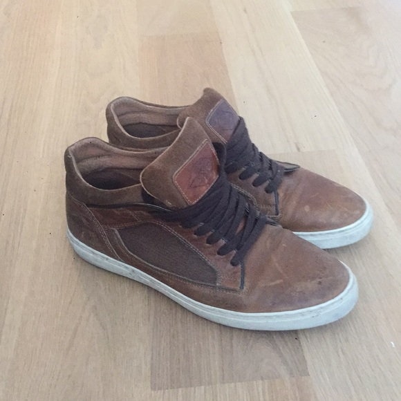 Rare Manfield Hightop Leather Shoes Tan